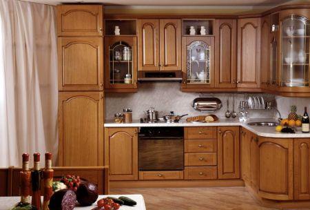 Деревянная кухня по индивидуальному проекту