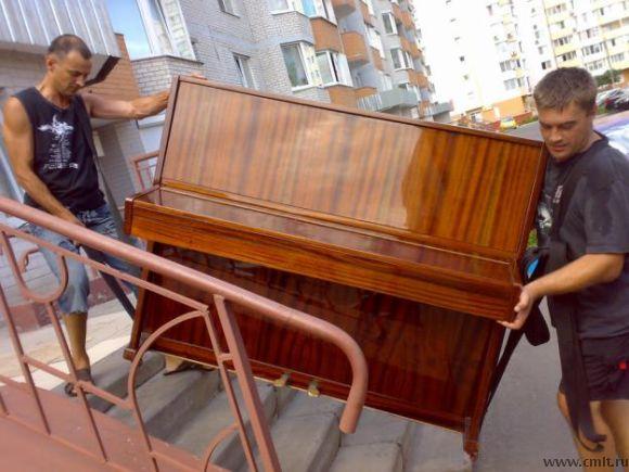 Погрузка пианино на газель
