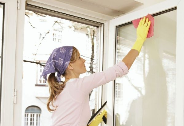 Мытьё окон снаружи