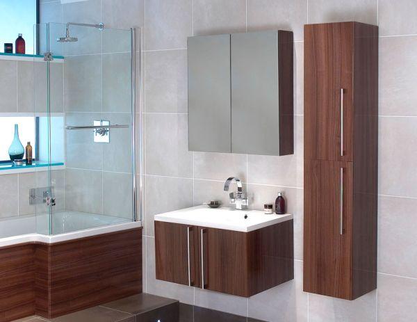 Навесные шкафчики и тумбы в ванной